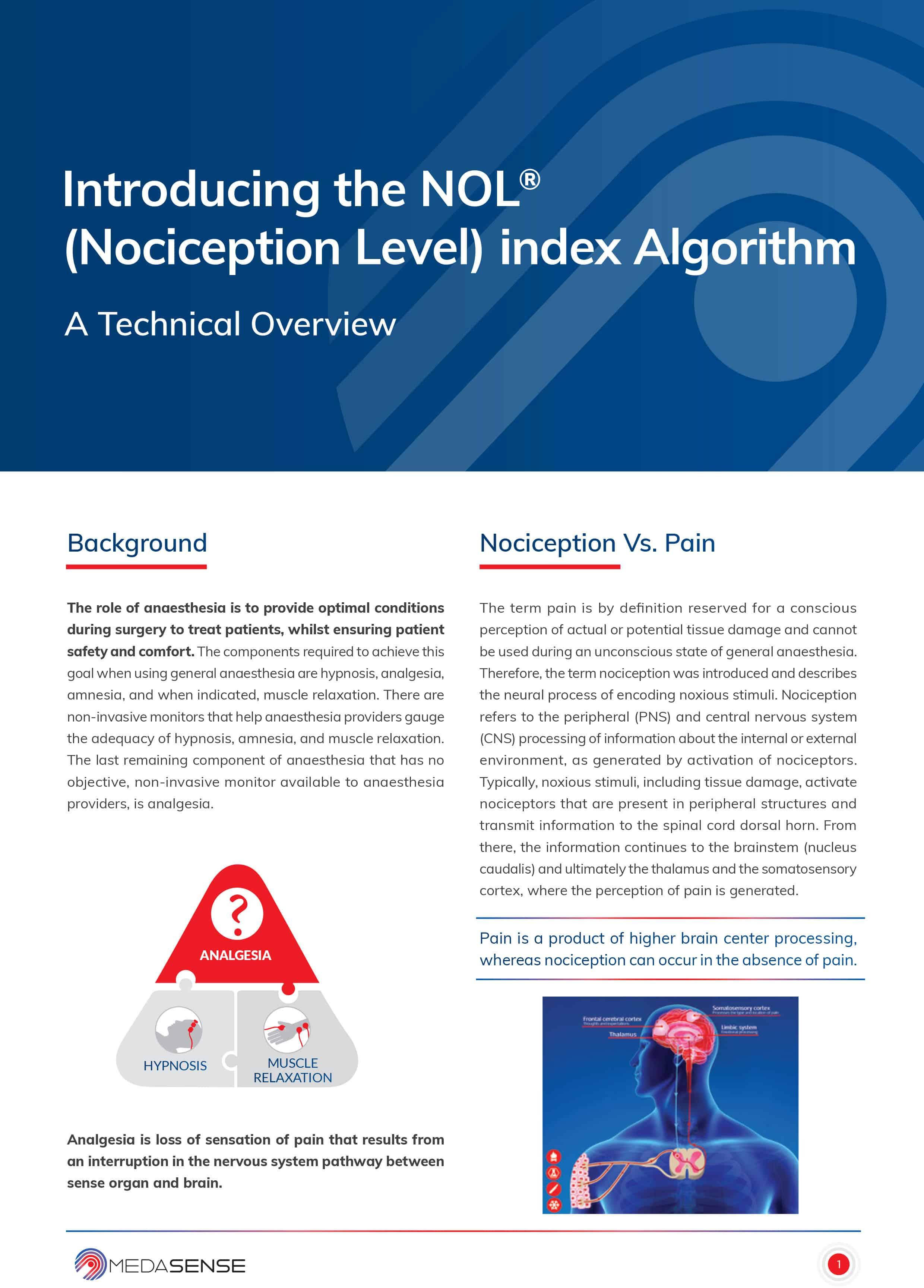 Medasense NOL Algorithm White Paper