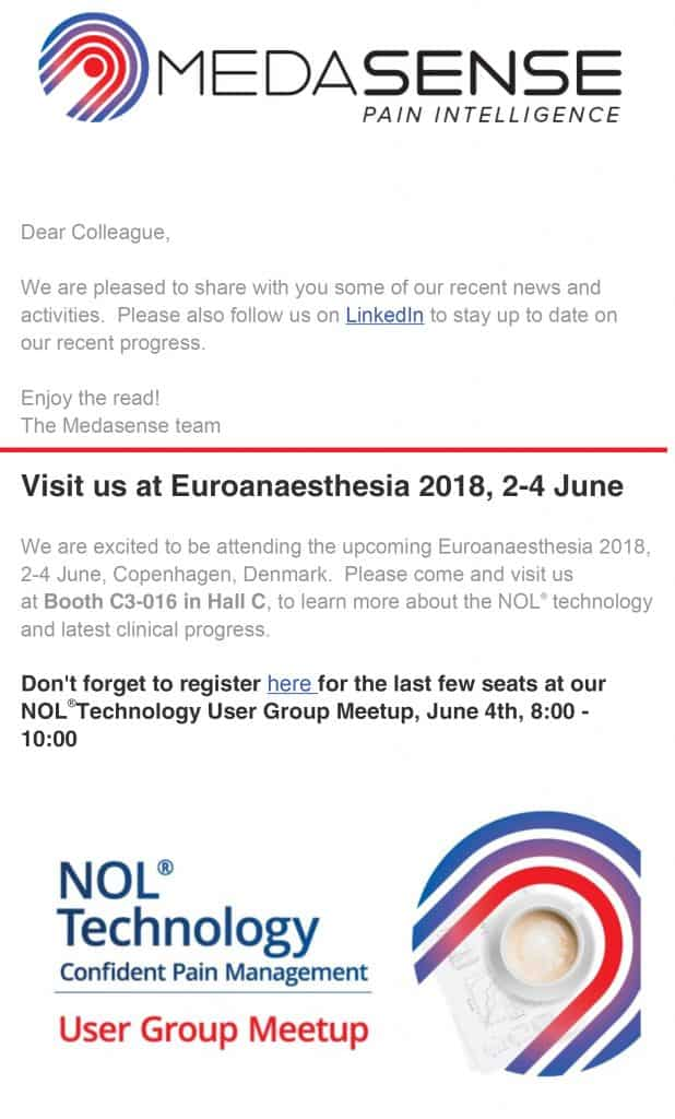 Medasense Newsletter - Q2 2018
