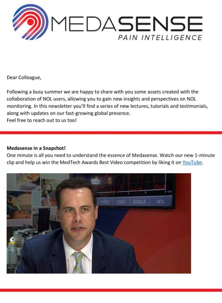 Medasense Newsletter Q3 2019