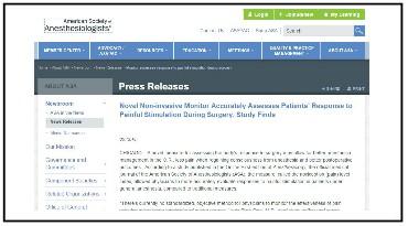 ASA publicized Medasense's study