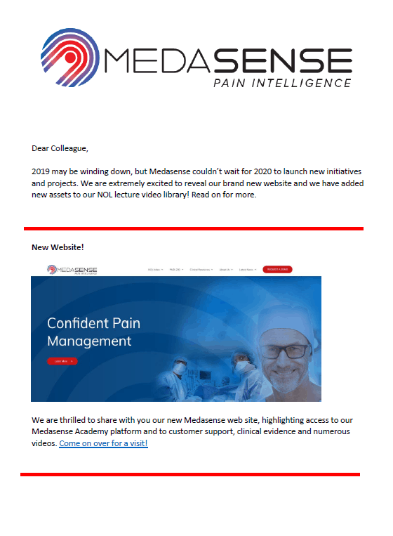 Medasense Q4 2019 Newsletter