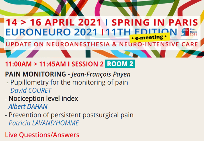 EuroNeuro 2021 - Session on NOL Monitoring