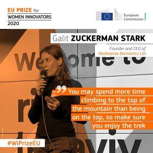 Medasense CEO Galit Zuckerman-Stark is a finalist for the EU Prize for Women Innovators 2020