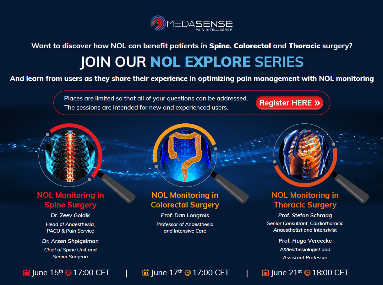 NOL EXPLORE Webinar Series on Pain Management with NOL in thoracic, spine and colorectal surgery
